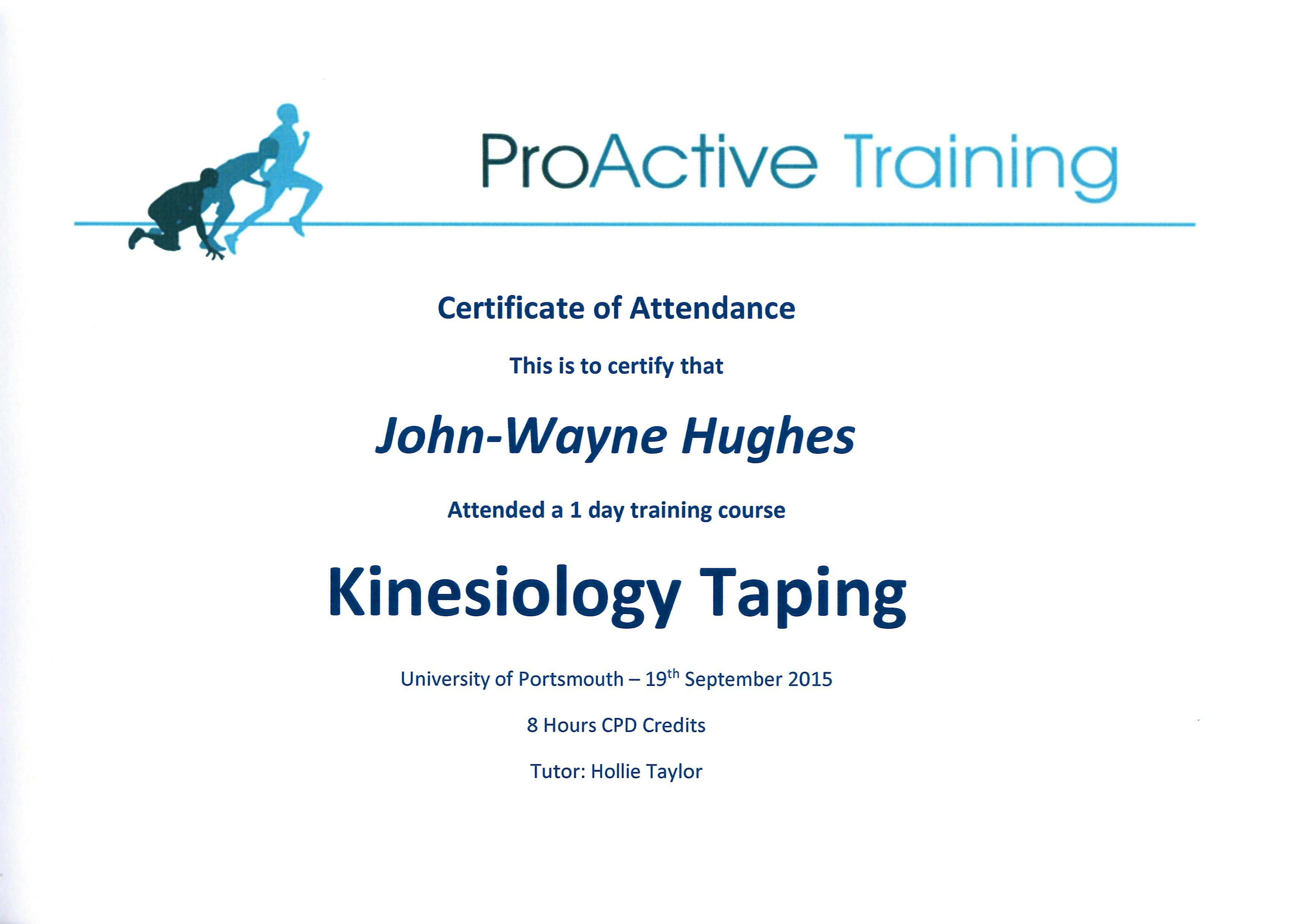 Kinesiology Taping Certification