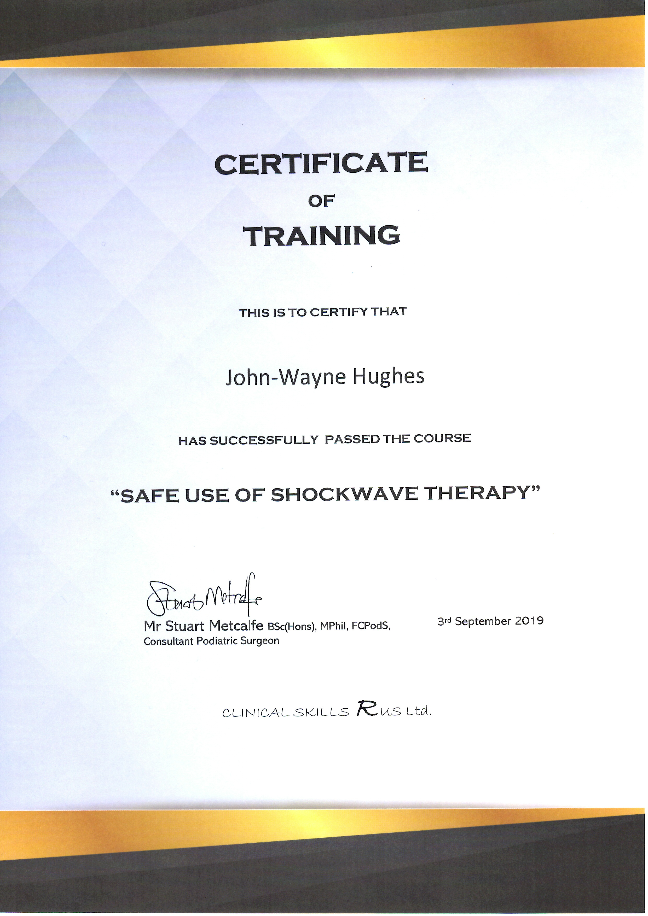 Image-of-certificate-of-training-for-the-safe-use-of-shockwave-therapy